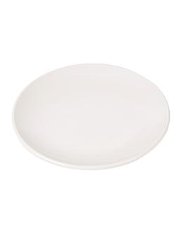 assiettes Ø 23 cm ivoire melanine (12 unitÉ)