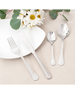 cucharas de postre 'sevilla' 14,7 cm plateado acero (12 unid.)