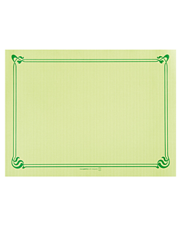 table mats 48 gsm 31x43 cm aniseed green cellulose (2000 unit)