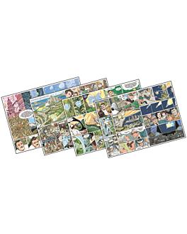 mantelines offset 'comic' 70 g/m2 31x43 cm cuatricromÍa papel (2000 unid.)