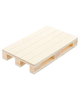 mini palet 13x8x2 cm natural madera (40 unid.)