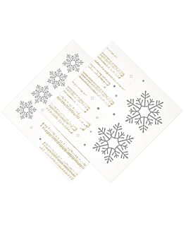 "servilletas ""double point"" 'new snow' 18 g/m2 40x40 cm blanco tissue (1200 unid.)"