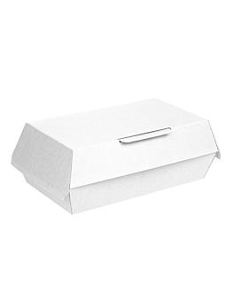 "boÎtes ""lunch box"" 'thepack' 230 g/m2 22x13x7,5 cm blanc carton ondulÉ nano-micro (300 unitÉ)"