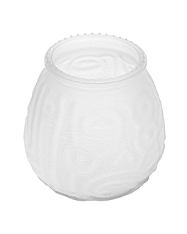 vaso para velas 9,5x9,5 cm translÚcido cristal (60 unid.)