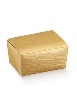 100 u. scatoli 'ballotin' 375 gr 12,5x8x5,5 cm oro cartone (1 unitÀ)