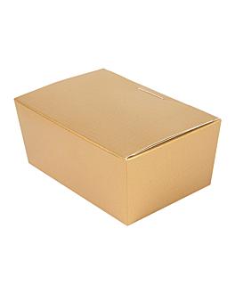 100 u. boÎtes 'ballotin' 375 gr 12,5x8x5,5 cm dore carton (1 unitÉ)