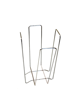 porta tovallons 18x18x19,4 cm platejat filferro (1 unitat)