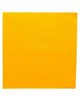 ecolabel napkins 'double point' 18 gsm 39x39 cm sun yellow tissue (1200 unit)