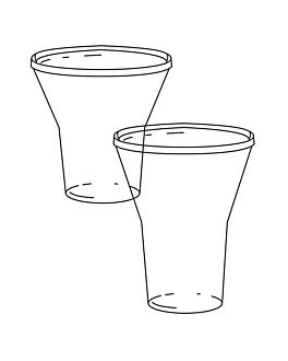 cups 360 ml Ø 9,5/4,6x11,5 cm clear pet (1000 unit)