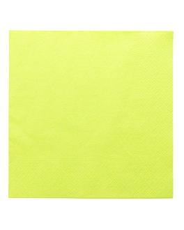 serviettes ecolabel 2 plis 18 g/m2 39x39 cm vert anis ouate (1600 unitÉ)