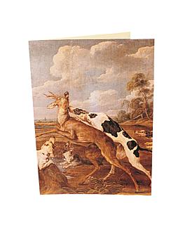 "carta 2 cuerpos ""corzos"" 48x33 cm surtido cartoncillo (1 unid.)"