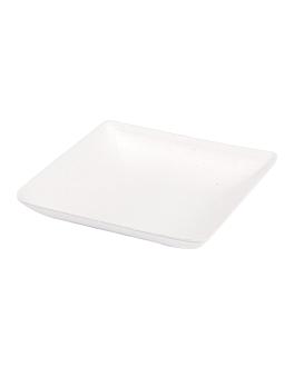 rÉcipient carrÉ 'bionic' 6,5x6,5x1,2 cm blanc bagasse (1000 unitÉ)