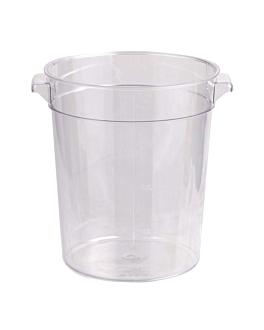 contenitore alimenti 4 l Ø 18,4x21,4 cm trasparente policarbonato (1 unitÀ)