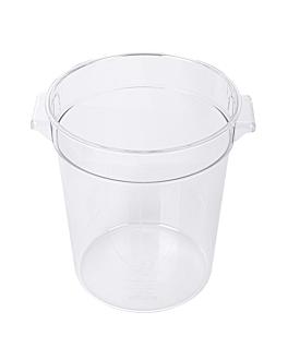 food container 4 l Ø 18,4x21,4 cm clear polycarbonate (1 unit)