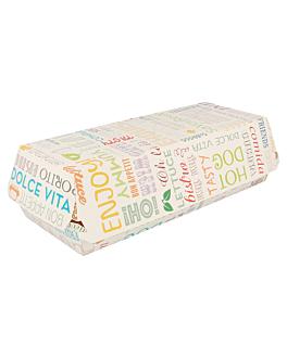 """cajas """"panini"""" 'parole' 275 g/m2 26x12x7 cm blanco cartoncillo (300 unid.)"""