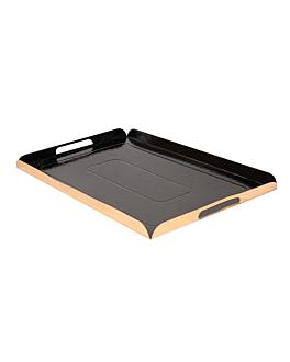 plateaux traiteur 1100 g/m2 19x28 cm or/noir carton (100 unitÉ)