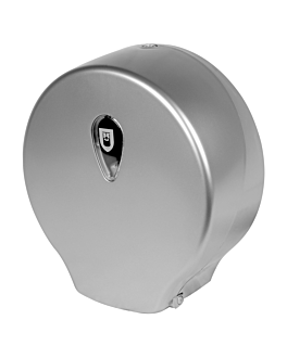 toilet dispenser 'maxi jumbo' 30x12,5x32,5 cm silver abs (1 unit)
