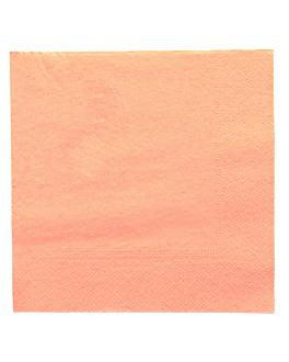 serviettes ecolabel 2 plis 18 g/m2 39x39 cm salmÓn ouate (1600 unitÉ)