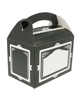"""boÎtes""""vintage"""" 320 g/m2 17x16x10 cm noir carton (300 unitÉ)"""