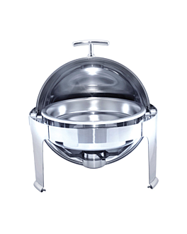 round chafing dish 6 l Ø 48x47 cm silver stainless steel (1 unit)
