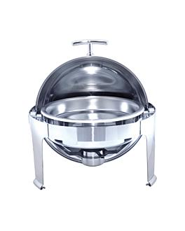 chafing dish rond 6 l Ø 48x47 cm argente inox (1 unitÉ)