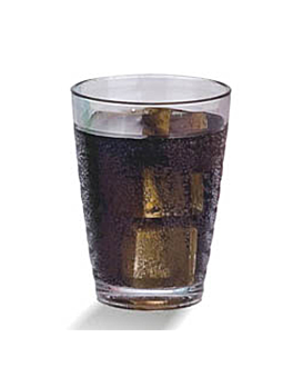 bicchieri con rilievi 380 ml Ø 8x12,8 cm trasparente policarbonato (72 unitÀ)