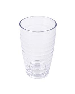 gobelets avec relief 380 ml Ø 8x12,8 cm transparent polycarbonate (72 unitÉ)