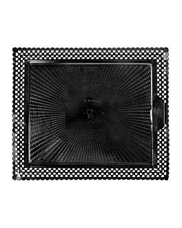 plateaux dentelÉs 'erik' 27x32 cm noir carton (100 unitÉ)