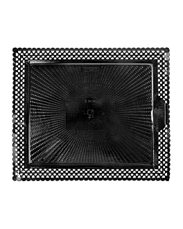 doilies trays 'erik' 27x32 cm black cardboard (100 unit)
