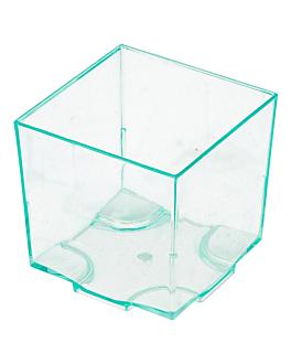 cubos apilables para aperitivos 4,2x4,2x4,2 cm verde agua ps (200 unid.)