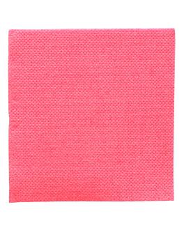 serviettes ecolabel 'double point' 18 g/m2 20x20 cm fuchsia ouate (2400 unitÉ)