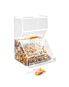 cereal dispenser 25,5x20,5x36 cm clear acrylic (1 unit)