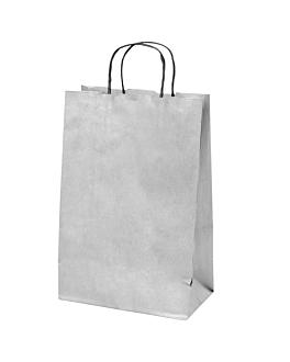 sacos sos com asas 2 garrafas 100 g/m2 18+10x39 cm prateado kraft (250 unidade)