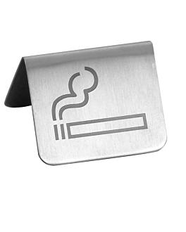 """caballete """"permitido fumar"""" 5,3x5x3,5 cm plateado inox (1 unid.)"""