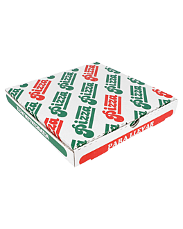 corrugated pizza boxes 348 gsm 24x24x3 cm white cardboard (100 unit)