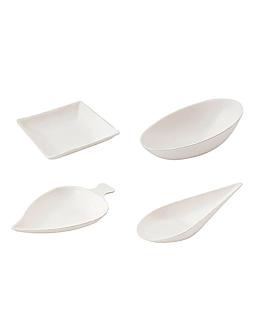 recipienti per snaks 'bionic' bianco bagassa (12 unitÀ)