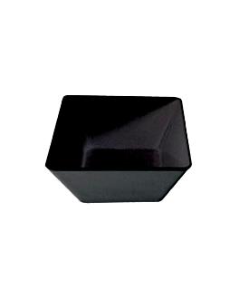 boles 6,7 l 30x30x11,5 cm negro melamina (4 unid.)