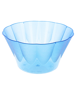 injected ice cream tubs 400 ml 12,2x6,6 cm blue ps (600 unit)
