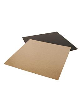 cartone pasticceria doppia faccia 1100 g/m2 22x22 cm cioccolato/pralina cartone (50 unitÀ)