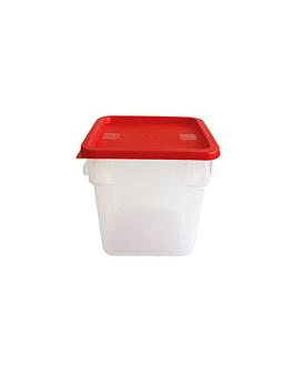 contenitore alimenti 8 l 22,5x22,5x23 cm bianco pp (1 unitÀ)