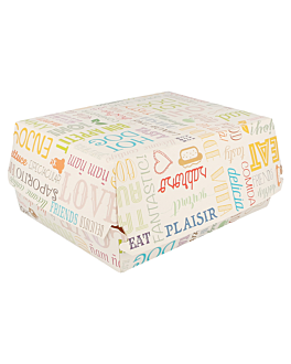"cajas ""lunch box"" 'parole' 275 g/m2 22,5x18x9 cm blanco cartoncillo (300 unid.)"