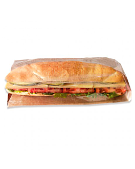 sandwich bags with window 'panorama' 40 gsm 9+6x23 cm natural kraft (250 unit)