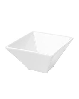 bols carrÉs 300 ml 12,2x6 cm blanc porcelaine (6 unitÉ)
