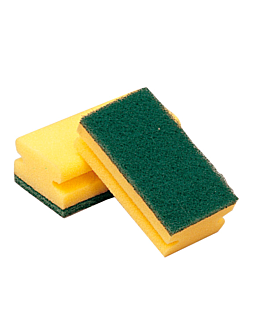 nail-saving sponge super 96 15x8x4,5 cm green fiber (12 unit)