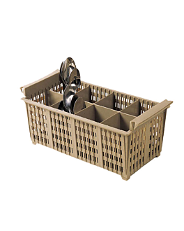 cutlery basket without handle 42,5x21x15 cm beige pehd (1 unit)