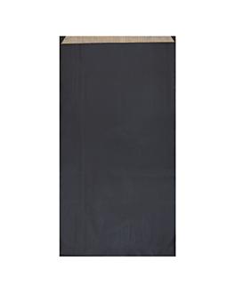 bolsas planas unicolor 60 g/m2 19+8x35 cm negro kraft verjurado (250 unid.)