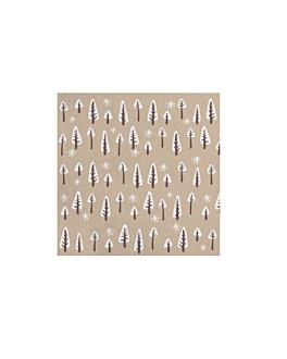 """servilletas """"double point"""" ecolabel 'forest' 18 g/m2 40x40 cm natural tissue reciclado (1200 unid.)"""
