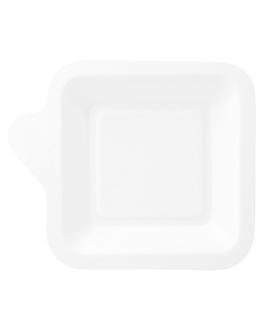platos cuadrados 'bionic' 11x11x1,7 cm blanco bagazo (1000 unid.)