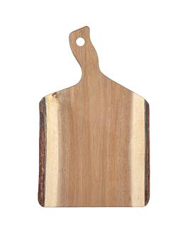 plateaux prÉsentation rectangulaires 40,6x25,5x1,9 cm naturel bois (6 unitÉ)