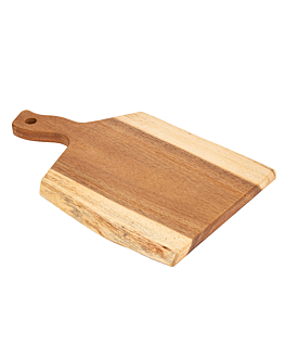 rectangular presentation tray 40,6x25,5x1,9 cm natural wood (6 unit)